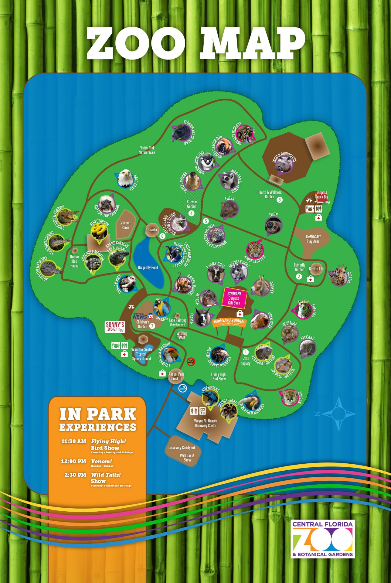 Florida Botanical Gardens Tourist Map Plan Your Zoo Trip | Downloadable Map of Central Florida Zoo