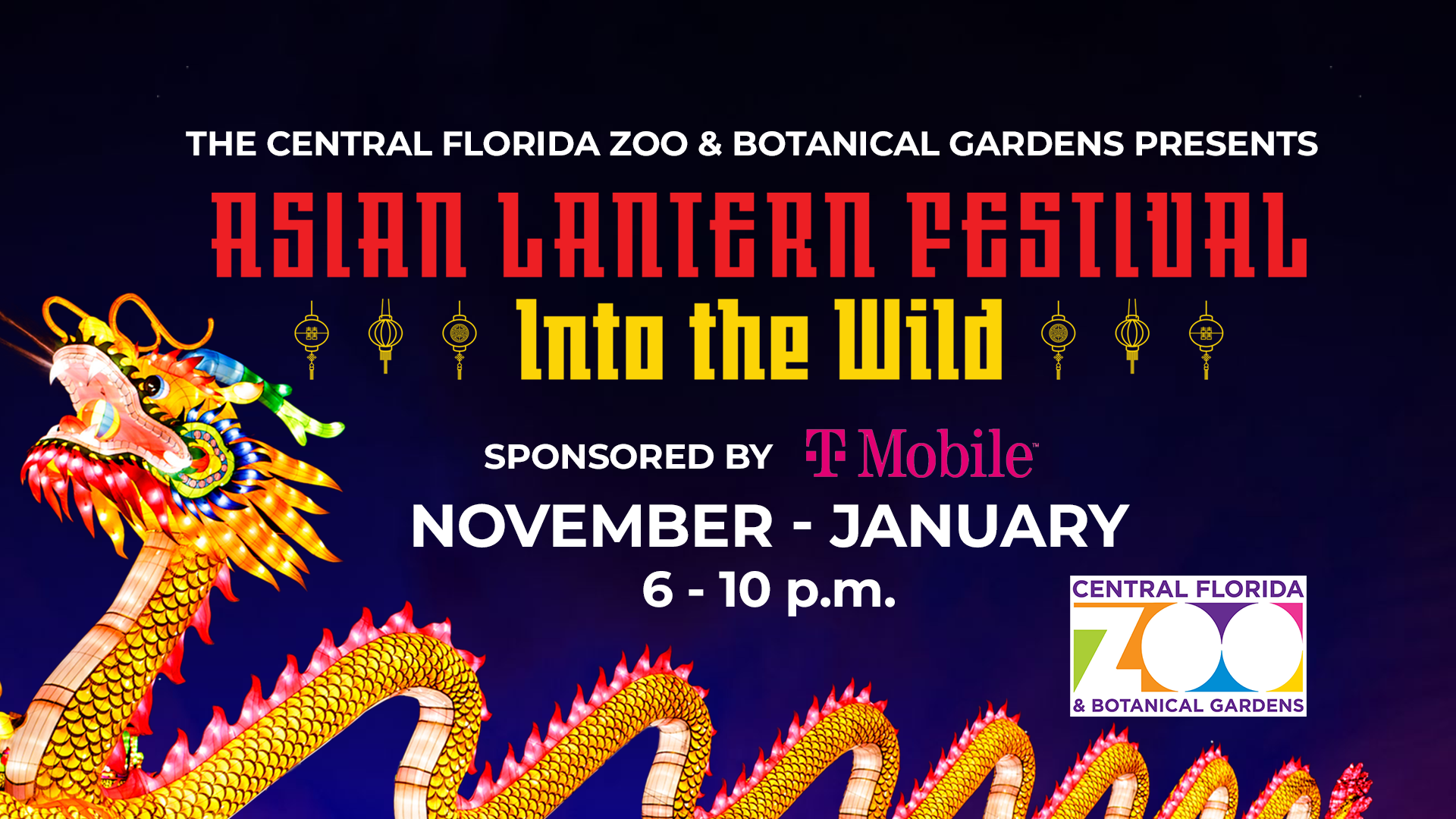 Asian Lantern Festival: Into the Wild by the Central Florida Zoo & Botanical Gardens